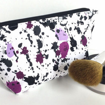 Small Makeup Bag, Small Zipper Pouch, Key Chain Pouch, Purple Makeup Bag, Mini Makeup Bag, Jewelry Bag, Jewelry Pouch