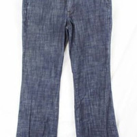 Womens Salt Works Med Rise Jeans size 4 Dark Blue Flare Leg Pants Trouser