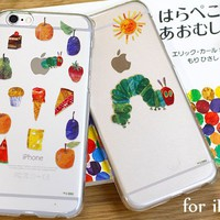 Strapya World : Hamee Original The Very Hungry Caterpillar Clear Case for iPhone 6 (2. Caterpillar and The Sun)
