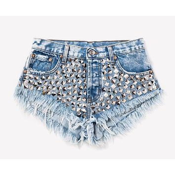 Wunderlust Acid Studded Babe Shorts
