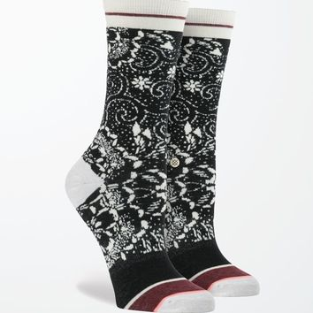 Stance Mesmerized Crew Socks - Womens Scarves - Black - One
