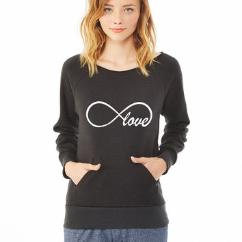 love infinity ladies sweatshirt