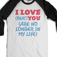 I Love You-Unisex White/Black T-Shirt