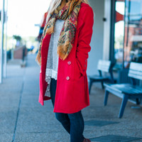 The Elizabeth Coat, Red
