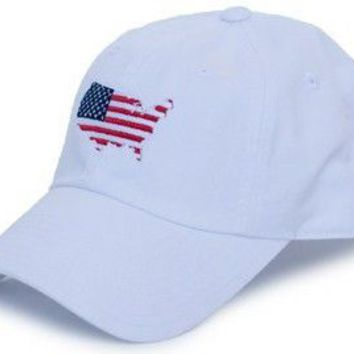 America Traditional Hat in White by State Traditions