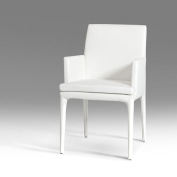 Modrest 3036 Modern White Leatherette Dining Chair