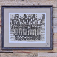 Vintage Football Team Photograph, 1926 University of Michigan Football Team Photo