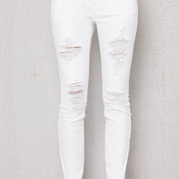 PacSun Mallow Ripped Low Rise Skinny Ankle Jeans at PacSun.com