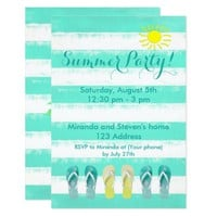 Summer party beach themed invitation