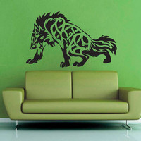 Celtic Knot Wolf - Wall Vinyl - Medium
