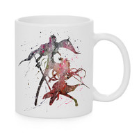 Asuna and Kirito Watercolor Coffee Mug, Kids Mug