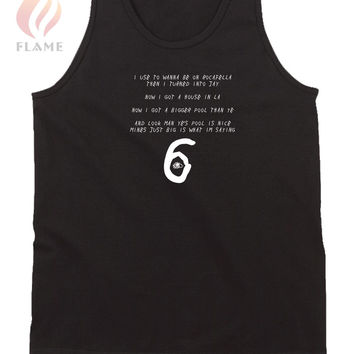 Drake Summer Sixteen Lyric Logo Tank Top
