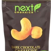 Next Organics Organic Dark Chocolate - Cashews - Case Of 6 - 4 Oz.
