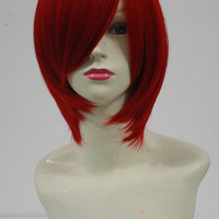Free Shipping Kingdom Hearts Kairi Anime Cosplay Wig Middle Length Straight Red Hair Wig Heat Resistant Costume