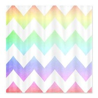 Watercolor Chevrons Pastel Rainbow Shower Curtain> Shower Curtains> cherokeerosemade