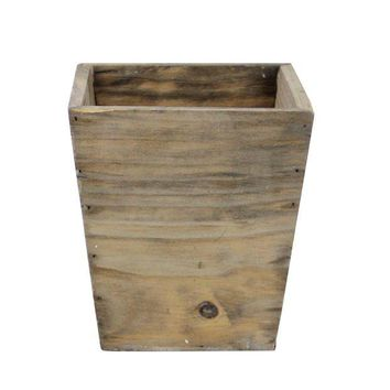 ONETOW 6.5' Country Rustic Natural Wood Storage Bin Container