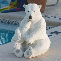 SheilaShrubs.com: The Polar Bear Pair Sculpture KY1837 by Design Toscano: Garden Sculptures & Statues