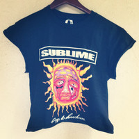 Studded SUBLIME crop shirt