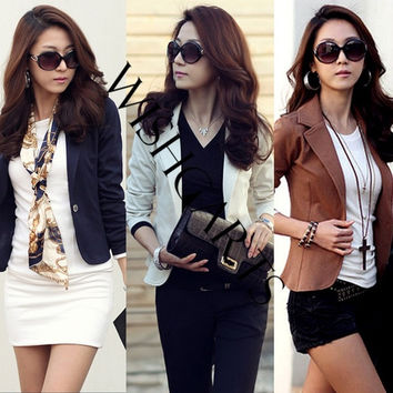 Spring Women's Slim Short Blazer Suit Jacket coat Outwear SV001096 = 1930361604