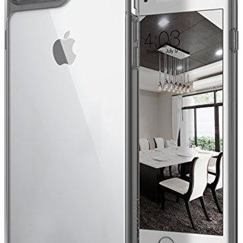 iPhone 8 Plus Case, / iPhone 7 Plus Case Caseology [Waterfall Series] Slim Clear Transparent Protective Air Space Technology for Apple iPhone 7 Plus (2016) / iPhone 8 Plus (2017) - Gray