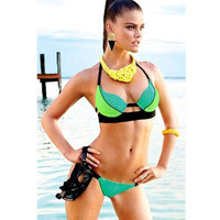 New Arrival Beach Hot Swimsuit Summer Casual Sexy Mosaic High Rise Swimwear Bikini [4914903236]
