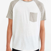 BDG Raglan Tonal Blocked Pocket Tee - Urban Outfitters