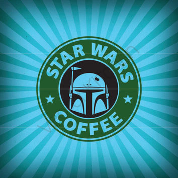 Star Wars Inspired Coffee Faces * 4 Designs * Cutting Template SVG EPS Silhouette DIY Cricut Vector Instant Download