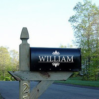 Mailbox Vinyl Wall Decal - Personalized Mailbox Decor #2-Vinyl Lettering for the home
