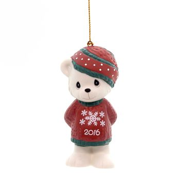 Precious Moments BEARY COZY CHRISTMAS ORNAMENT Teddy Bear Dated 2016 161007