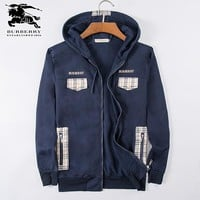 Boys & Men Burberry Cardigan Jacket Coat Hoodie