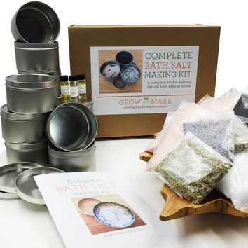 Complete DIY Bath Salt Making Kit - Create your own luxurious soaking salts