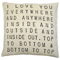 Sugarboo Designs I Love You Everywhere Pillow | A Cottage in the City