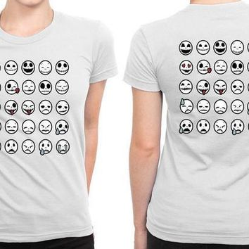 ICIK7H3 Jack Skellington Emojis B 2 Sided Womens T Shirt