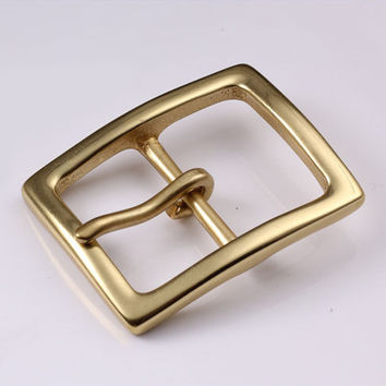 40mm Copper Free Single Prong Solid Brass Horseshoe Belt Buckle DIY Leathercraft Metal Accessories 424
