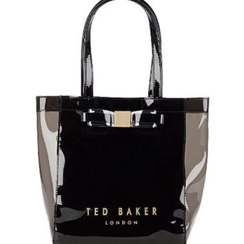 TED BAKER London Bow Icon Small Shopper Bag Black
