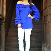 FLASH SALE It's A Fiesta Top: Royal Blue | Hope's