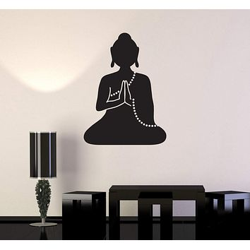 Wall Decal Buddha Meditation Buddhist Monk Yoga Vinyl Stickers Unique Gift (ig2853)