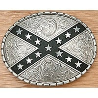 Nocona® Silver Oval Rebel Belt Buckle 37922