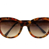Lepard Print Cat Eye Sunglasses