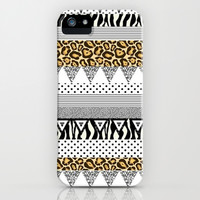 Just a Couple Animals iPhone & iPod Case by Pink Berry Pattern