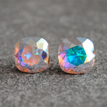 Best Crystal Stud Earrings Aurora Borealis Products On Wanelo