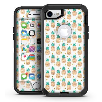 Tropical Summer Pineapple v2 - iPhone 7 or 7 Plus OtterBox Defender Case Skin Decal Kit