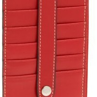 Lodis Audrey Zipper Pocket Card Case,Red,one size