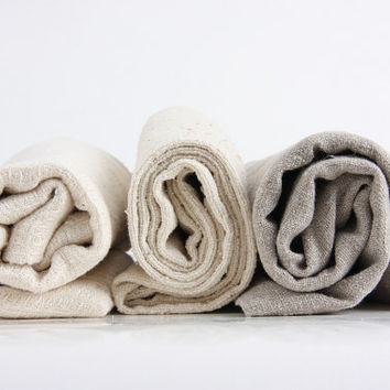 set of 3 SOFT bath towels, handmade from natural linen, hemp ororganic cotton