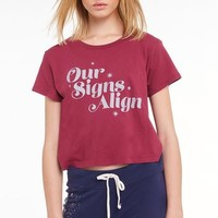 Our Signs Align Baby Tee | Sangria
