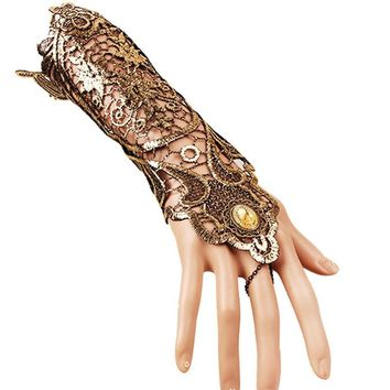 Steampunk Gothic Lace Fingerless Long Glove