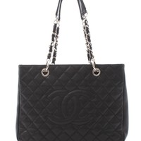 Chanel Grand Shopping Tote Bag in Caviar Leather / Black
