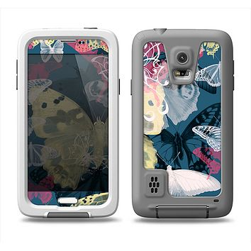 The Multi-Styled Yellow Butterfly Shadow Samsung Galaxy S5 LifeProof Fre Case Skin Set