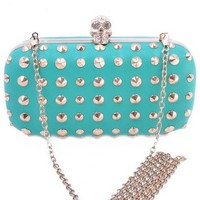 Skull Studded Clutch Bag  - Diva Hot Couture