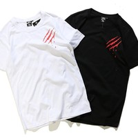 Couple Round-neck Short Sleeve T-shirts Bottoming Shirt [10775874499]